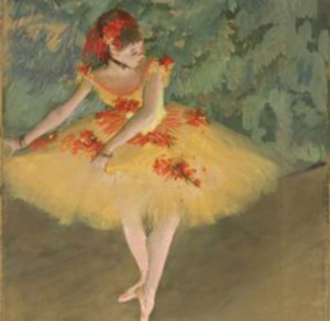 dancer making points by degas
